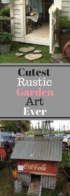 Cutest Rustic Garden Art Ever - Plenty of Photos!