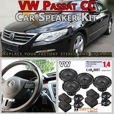 VW Passat CC Speaker Upgrade Pack Front Rear Door And Brackets - Car Hifi Radio Adapter.eu VW Passat CC Typ 35 2008 - 2016 car speakers upgrade kit