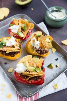 Mexicaanse gevulde paprika's - Brenda Kookt! - Hoofdgerecht