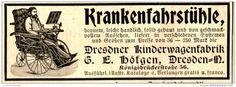 Original-Werbung/ Anzeige 1897 - KRANKENFAHRSTÜHLE - HÖFGEN - DRESDEN - ca. 90 x 30 mm