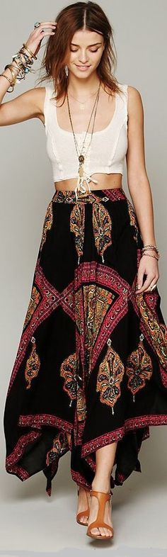 Pretty skirt!-----Looking Gorgeous in Bohemian Style Clothing | Glam Bistro @Laura Jayson Jayson Jayson Phinney ✌