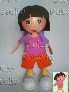fofucha Dora con molde