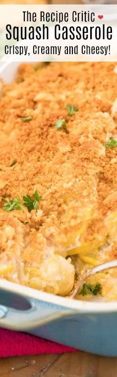 The best way to use up that yellow summer squash!Squash Casserole is a great way to use up fresh squash from your garden. Easy to make with a creamy cheesy filling and a crispy buttery topping! Veggie Recipes, Gourmet Recipes, Salad Recipes, Dinner Recipes, Cooking Recipes, Quiche Recipes, Drink Recipes, Dinner Ideas, Squash Casserole