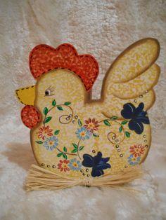Peça em MDF - Decoração com textura e pintura decorativa - estilo country