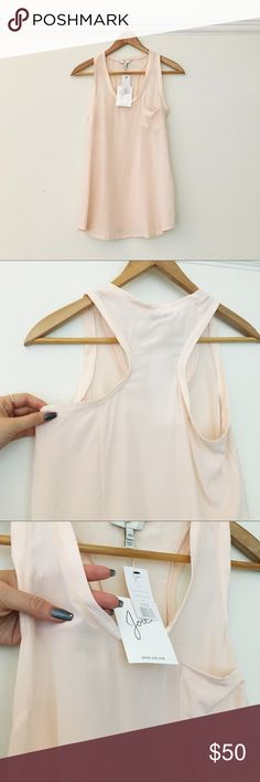 NWT Joie Racer Back 💯Silk dusty rose tank Brand new in perfect condition. Will fit XS well even thigh the size says xxs Alicia racer back silk tank Joie Tops Tank Tops