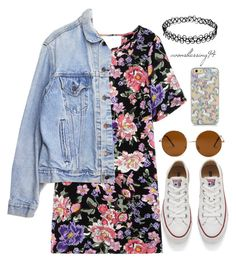 """""""Vintage"""" by avonsblessing94 ❤ liked on Polyvore featuring Converse, Levi's, Forever 21, vintage, women's clothing, women, female, woman, misses and juniors"""