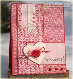 A Valentine Smooch! Ruby DP, True Felt, and Technique Tuesday stamps!