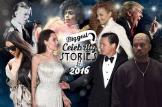 It's safe to say that 2016 was an especially crazy year. So much happened in Hollywood (and beyond) that we honestly have had trouble keeping everything straight. From reality star Donald Trump being elected president of the United States (!) to Brangelina's shocking breakup, join us as we count down the 30 buzziest celeb headlines of 2016.