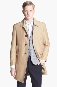 $2,100, Thom Browne Waterproof Topcoat. Sold by Nordstrom. Click for more info: https://lookastic.com/men/shop_items/2783/redirect