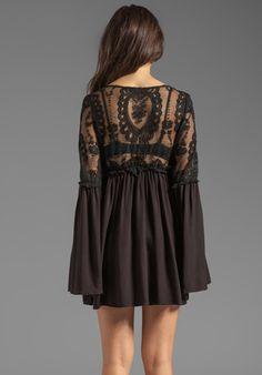 FOR LOVE & LEMONS Isabella Dress in Black