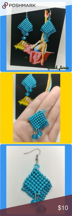 Nwt vintage beaded blue earrings Beautiful Nwt vintage beaded blue earrings. Message me for more details, offers or personalized bundles. Thank you for looking and have a great day. #jewelry#earrings #blue #beads #nwt #new #90s #fashionearrings Vintage Jewelry Earrings