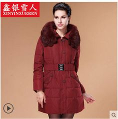 >> Click to Buy << Fashion Middle-Aged Women'S Luxury Rabbit Fur Collar White Duck Down Coat Plus Size Winter Thick Warm Outwear Size XL-5XL H2867 #Affiliate