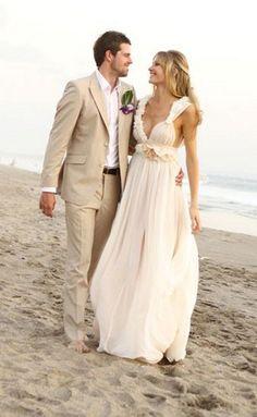 Dreamy Beach Wedding Dresses love everything but her dress