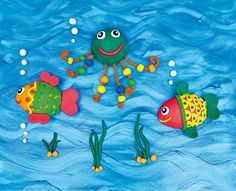Summer Crafts For Kids, Kids Crafts, Tweety, Fish, Pets, Character, Animals, Creativity, Manualidades