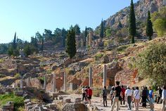 The site of the Oracle at Delphi, Greece Photo Gallery by ...