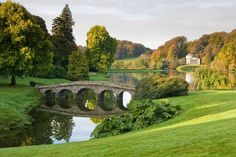 Gorgeous Landscaping. The National Trust property at Stourhead near Mere. Wiltshire.