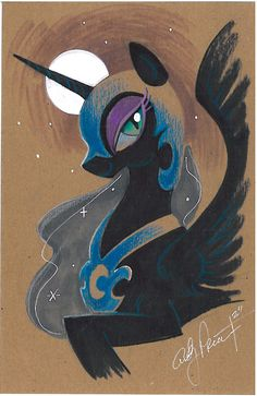 Another quick color study on tagboard. Princess Luna as Night Mare Moon, MLP's own version of Malificent. Nightmare Moon color study my little pony My Little Pony Princess, Mlp My Little Pony, My Little Pony Friendship, Nightmare Moon, Nightmare Night, Celestia And Luna, Mega Pokemon, Mlp Fan Art, Moon Princess
