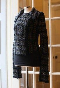 For inspiration - Christopher Kane Crochet Biker Jacket