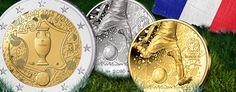 Frankreich 2016 – Gedenkmünzen des Gastgebers zum Fußball-Ereignis des Jahres