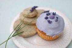 Lavender cup cake