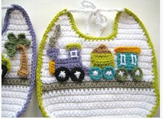 crocheted baby bib gift idea