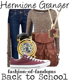 Hermione Granger by fofandoms Character Inspired Outfits, Disney Inspired Outfits, Themed Outfits, Disney Outfits, Disney Style, Disney Fashion, Hermione Granger, Harry Potter Hermione, Ron Weasley