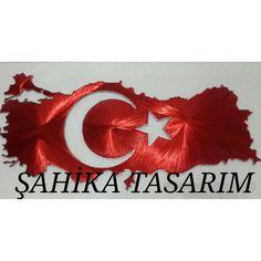Filografi Türkiye haritası Türk bayrağı