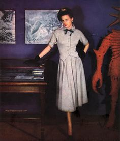 Vogue May 1949 - Photo by Clifford Coffin Conde Nast Archive  Dress by Lanvin