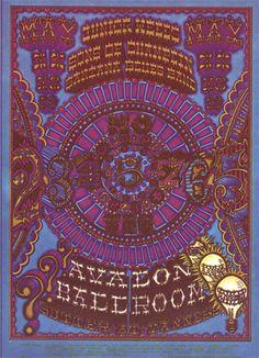 5/17-19/ 1968 ... Avalon Ballroom ....    Santana .... Junior Wells .... Sons of Champlin .....   .  artist .... WILLIAM HENRY