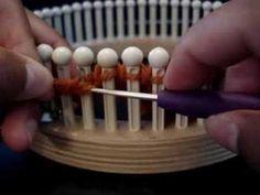 Loom Knitting Pinwheels on Loom: Video Part IV