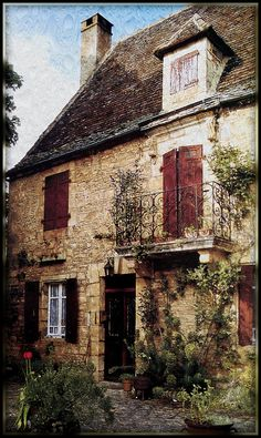 Une vieille maison (An old house)  - Dordogne, France - Dordogne (French pronunciation: ​[dɔʁ.dɔɲ]; Occitan: Dordonha) is a department in SW France,  located in the region of Aquitaine, between the Loire Valley and the Pyrenees & is named after the great Dordogne river that runs through it. It roughly corresponds with the ancient county of Périgord.