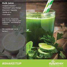Hulk Juice  www.mercycolberg.isagenix.com