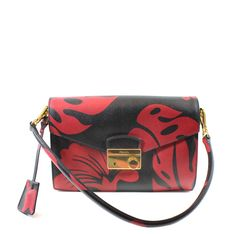 Hibiscus, Leather Handbags, Prada, Campaign, Shoulder Bag, Medium, Check, Shopping, Products
