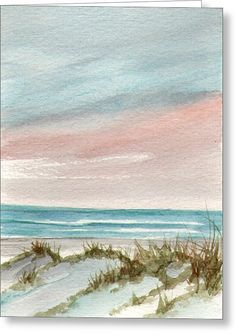 Soothing Sunset Greeting Card by Rosie Brown