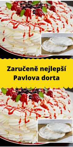 Pavlova, Ale, Recipies, Food And Drink, Cooking, Hampers, Bakken, Recipes, Kitchen