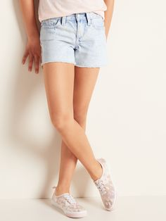 Distressed Jean Cut-Off Shorts for Girls Old Navy Girls, Cut Off, Perfect Fit, Shop Old Navy, Girls Jeans, Short Girls, Distressed Jeans, Girl Outfits, Denim Shorts
