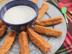 Get Spicy Pickle Fries with Homemade Ranch Dip Recipe from Food Network