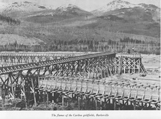 The flumes of the Cariboo goldfields, Barkerville Fraser River, Gold River, Canadian History, Gold Rush, Natural Resources, History Facts, Old Pictures, Wild West, British Columbia