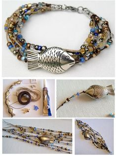 Pandahall.com offers you jewelry making ideas and easy picture instruction to help you to finish this fish bracelet.