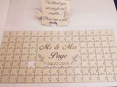 Personalised Wooden Wedding Guest Book Jigsaw Puzzle Keepsake Anniversary | eBay