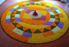 Floral art-Pookalam-Onam-Kerala