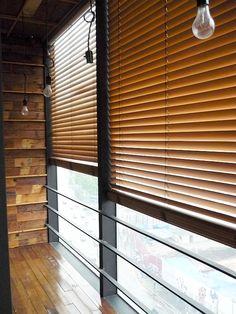 window wooden Venetian blind