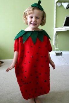 DIY Tutorial: DIY Halloween Costume / DIY Strawberry Kids Easy Halloween Costume - Bead&Cord