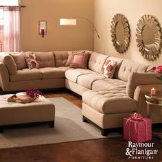 Metropolis Sectional Sofa | This super-sized seating will help spread tidings of comfort and joy to the whole family.