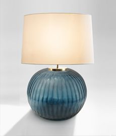 Gobi Ocean Blue Round Table Lamp, Hector Finch