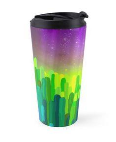 'Hue-Cactus' Travel Mug by HeartActivation Creative Design, Travel Mug, Hue, Cactus, Art Prints, Tableware, Art Impressions, Dinnerware, Tablewares