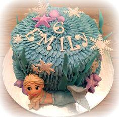 Elsa Mermaid Cake Elsa Mermaid, Birthday Ideas, Birthday Cake, Annoushka, Mermaid Cakes, Cake Ideas, Baby Kids, Lily, Children