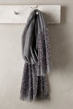 Glimmered Wool-Silk Scarf - anthropologie.com {wool, silk & sequins?  who could ask for more!}