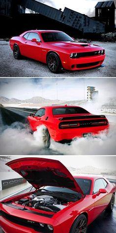 2015 Dodge Challenger SRT Hellcat yup!! Dream car! It's goin down! But in black! Mmmmmmean cuz!!!