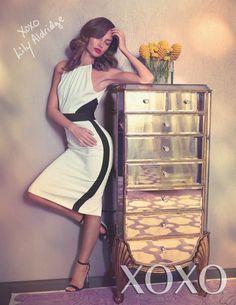 lily xoxo Aldridge campaign3 Lily Aldridge Estrellas en XOXOs Primavera / Verano 2014 Campaña